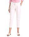 U.S. Polo Assn. Women Flat Front Linen Trousers