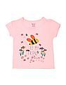 Donuts Girls Printed T-Shirt -  Pack Of 5