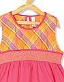 U.S. Polo Assn. Kids Girls Smocked Waist Sleeveless Top