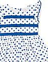 Donuts Girls Polka Print Fit And Flare Dress