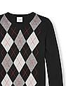 The Children's Place Boys Long Sleeve Argyle Front Sweater