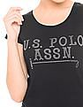 U.S. Polo Assn. Women Crew Neck Regular Fit T-Shirt