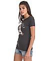 Aeropostale Ribbed Neck Appliqued T-Shirt