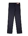 U.S. Polo Assn. Kids Boys Solid Elasticized Waist Trousers