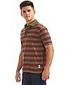 Cherokee Short Sleeve Striped Polo Shirt