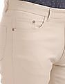 Arvind Slim Fit Solid Chinos