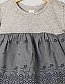 GAP Toddler Girl Grey Floral Eyelet Border Top