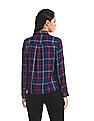 Cherokee Blue Spread Collar Check Shirt