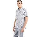 Flying Machine Slim Fit Nautical Print Shirt