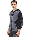 Flying Machine Hooded Zip Up Sweater