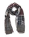 SUGR Grey Check Cotton Stole