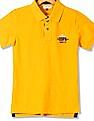 U.S. Polo Assn. Kids Boys Rear Print Pique Polo Shirt